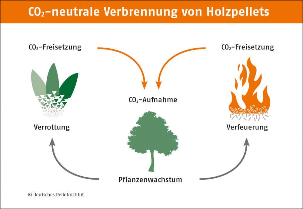 CO2-Kreislauf Holzpellets