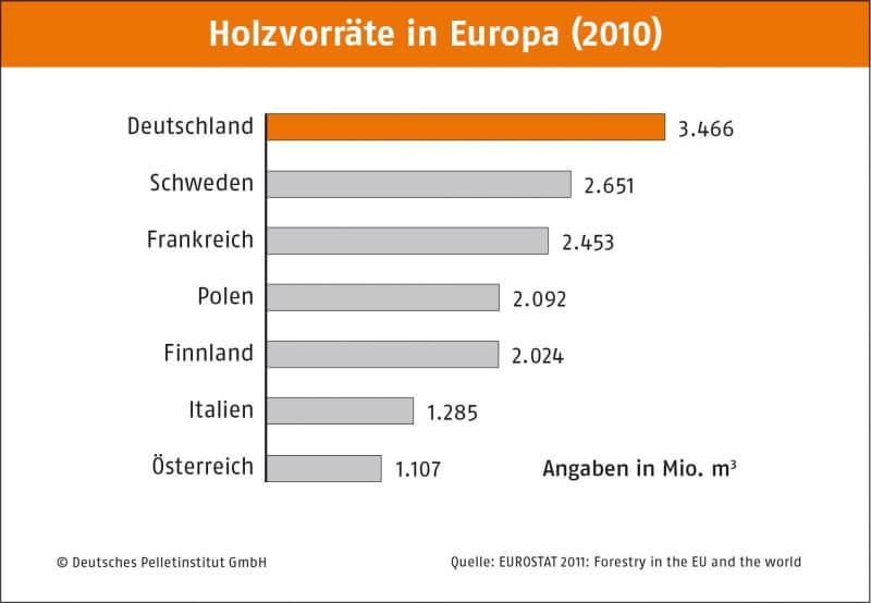 Holzvorrat in Europa