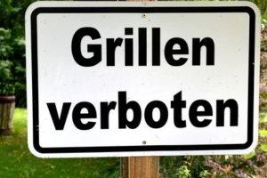 Grillen verboten